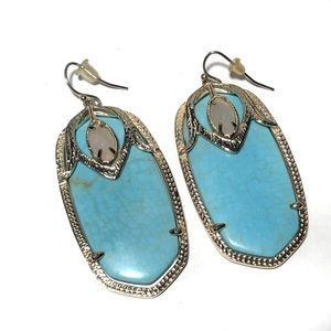 Kendra Scott Darcy Blue Turquoise Earrings Gold